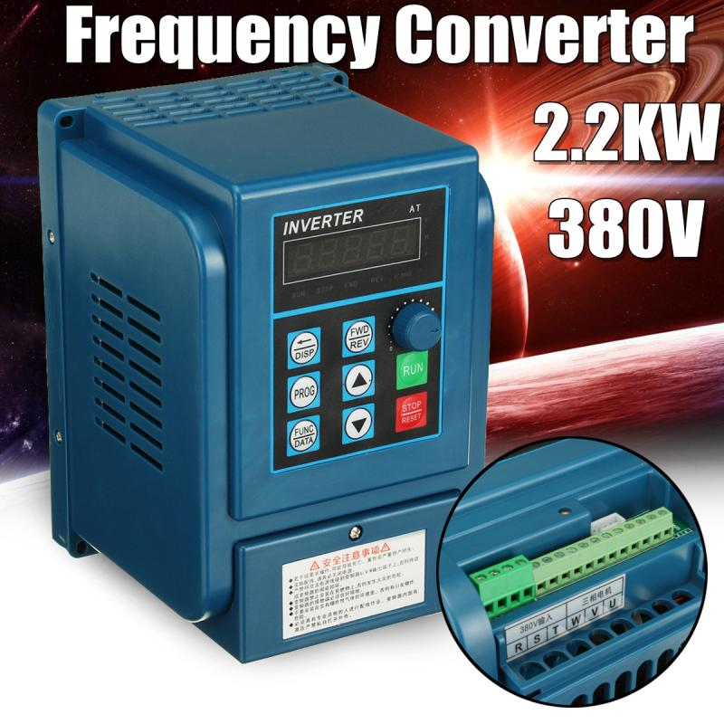 380V 2.2KW Variable Frequency Converter AC Drive VFD Inverter 1HP or 3HP Input 3HP for Water Pump and Fan blower 11kw 3phase 380v inverter vfd frequency ac drive sv110is5 4n new