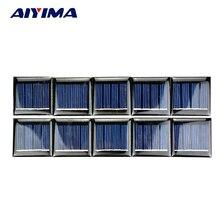 AIYIMA 50Pcs Solar Panels Polycrystalline Silicon Flexible Solar Panel Power Charger 2V 60mA 40x40MM DIY Portable Solar cells