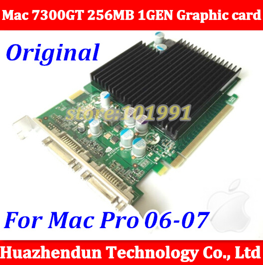 Free ship via DHL/EMS New Original Mac pro n-Vidia GeForce 7300GT 256MB for 2006-2007 Video Card 1GEN PCI-e Graphic card  dhl ems 5 lots oriental original vex ta ph266 01 ph26601 2 phase stepping original a1