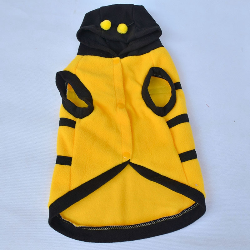 a616dcc2e503 Autumn and Winter Cute Bee Pattern Costume Clothes Pets Clothing for ...