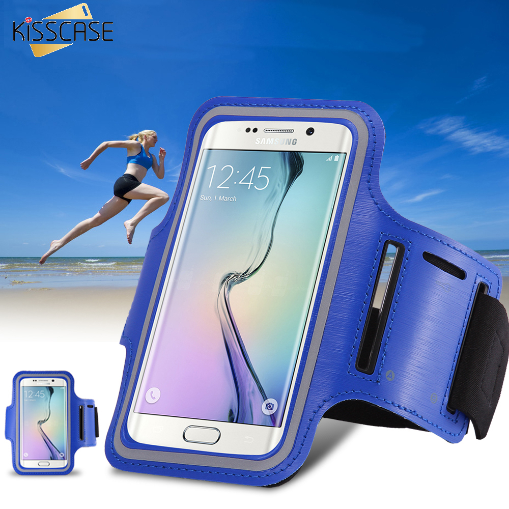 KISSCASE S5 S6 Arm Band Case Holder Pouch Belt Deportivo Sport Running Accessories For Samsung Galaxy S3 S4 S5 S6 S6 Edge S7