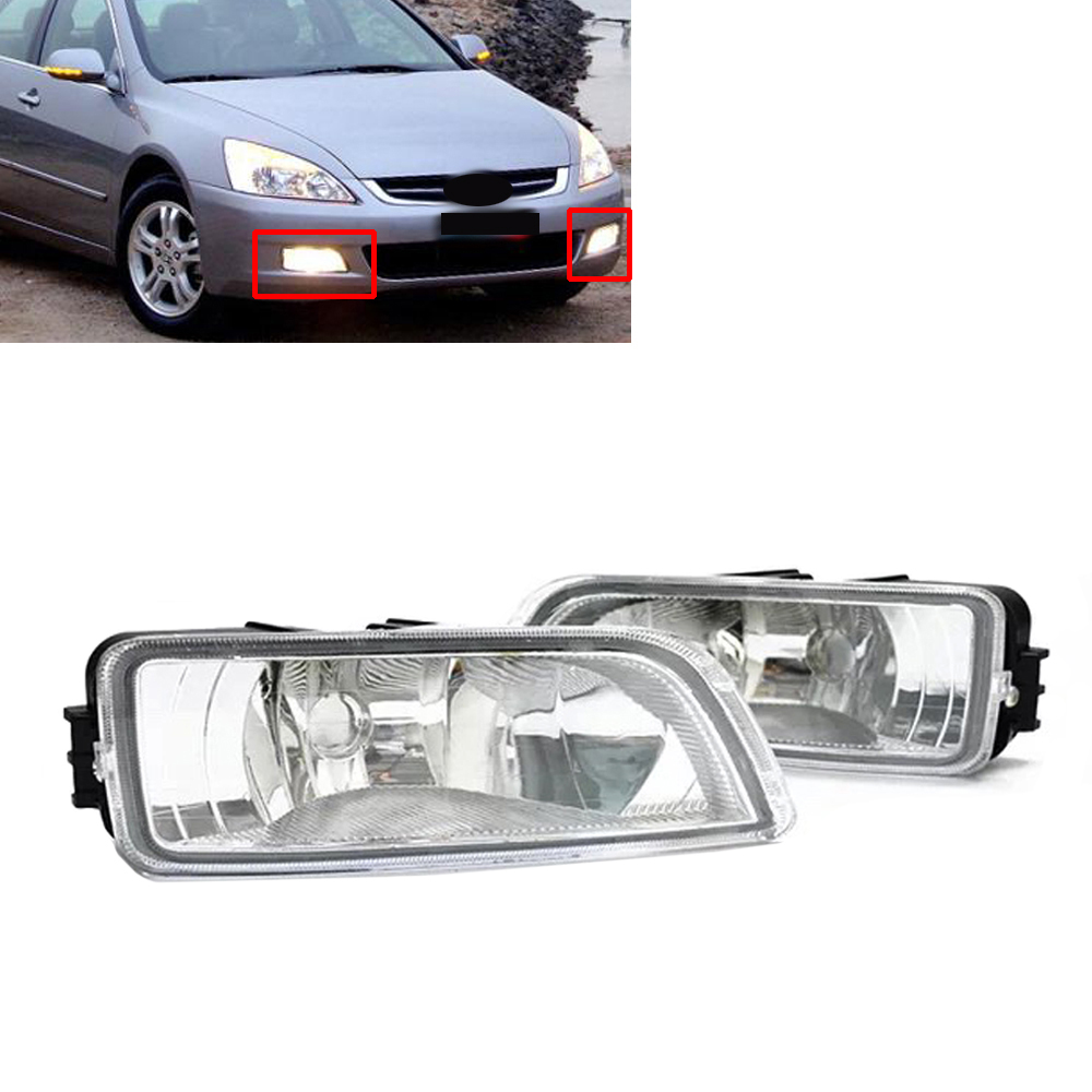 Car Styling Pair Front Left Right Fog Light Lamp Cover 33951-SDA-H01 33901-SDA-H01 Fit for Honda Accord 2003 2004 2005 2006 2007 front lower left right bumper fog light grille cover fog light lamp kit set for honda accord 4door 1998 2002