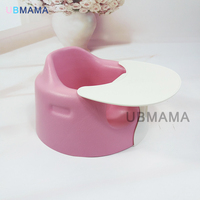 Bright Colors Can Multi Functional Portable Take Off Plate PU Plastic Baby Eat Desk And Chair
