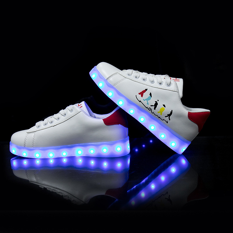 d7707d3b2208 7 Colors Flashing Kids Shoes LED USB Recharge Luminous Sneakers Glowing  Light Up Shoes Breathable Boy girl