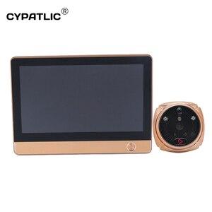 Image 2 - Wireless wifi deurbel met camera digital magic eye door viewer camera with motion sensor for home security