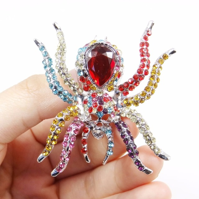 Skeleton Spider  Brooch Jewelry