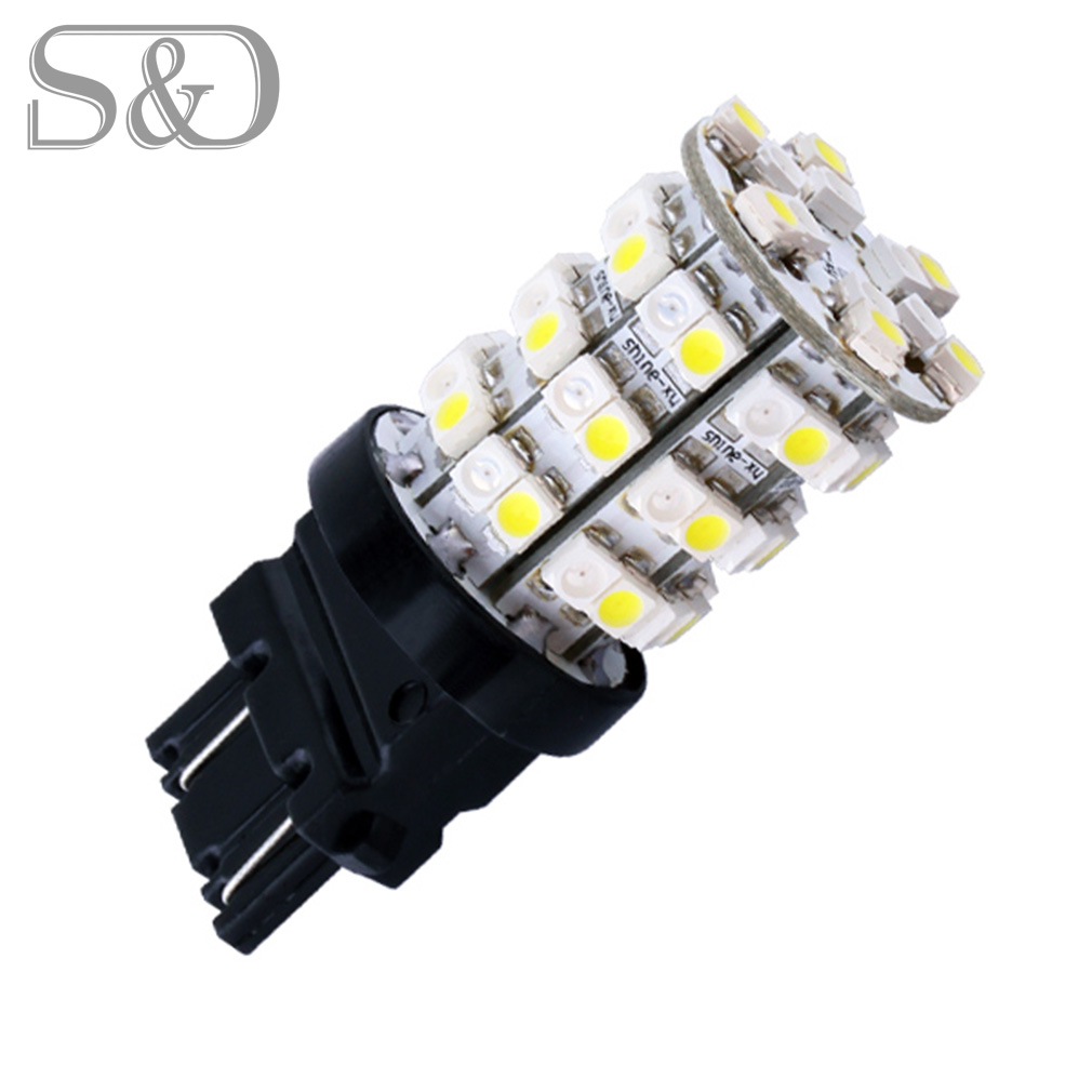 3157 Switchback 60 Smd White Amber Rear Signal Led Bulb P27 7w Light Socket Wiring Diagram Car Bulbs Brake Lights Source Parking 12v D45