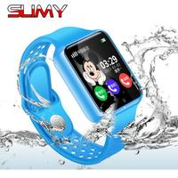 Slimy G98 GPS Baby Smart Watch for Kids Boy Girl Apple Android Smartwatch Support 2G SIM TF Card MTK2503 Dial Call Push Message
