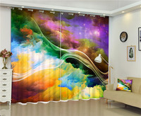 Outer space Nebula 3D Window Blackout Curtains For Living room Kids Boys Bedding room Drapes Cotinas para sala decorative