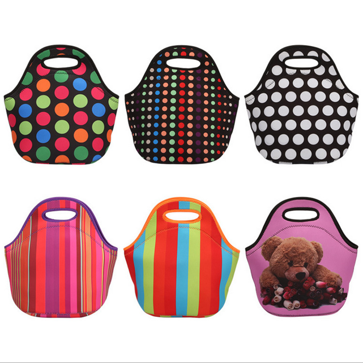 New Waterproof Lunch Bag For Women Kids Men Cooler Lunch Box Bag Tote Canvas Lunch Bag Insulation Package Portable
