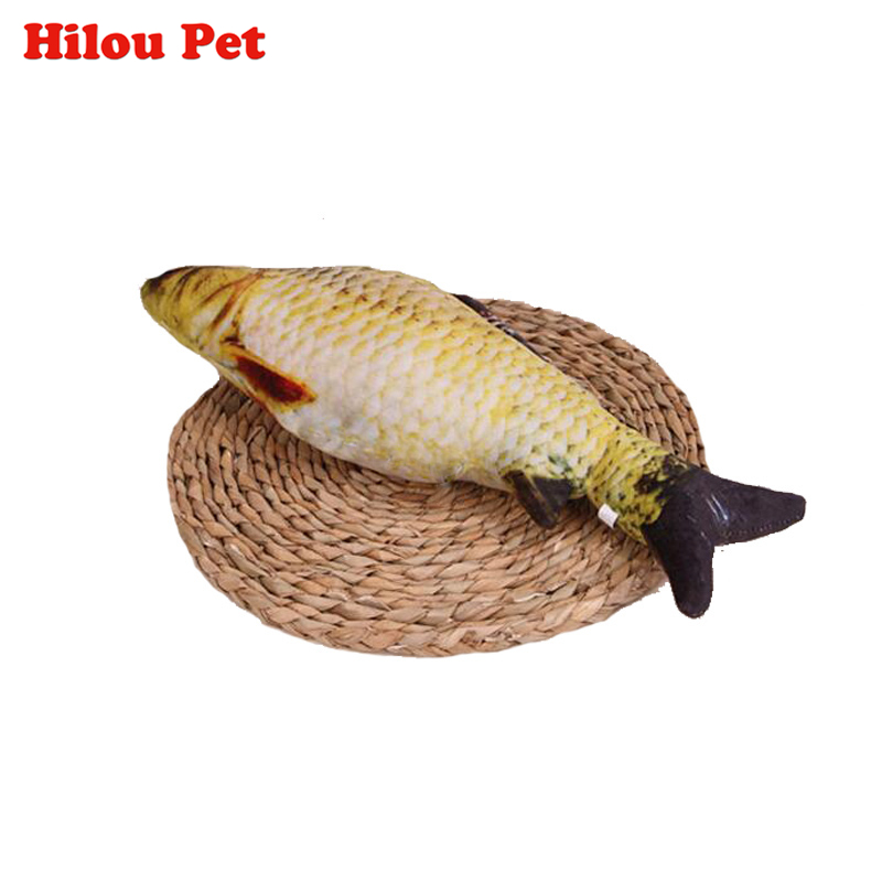 Funny Cat Toy Simulation Fish PP Cotton Padded 18cm Long Pet Dog Cat Hunt Toys
