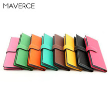 купить 7 Colors Solid Fashion Hasp Women Card Holder Unisex Long Design PU Leather Card Holder Men Card Holder по цене 697.6 рублей