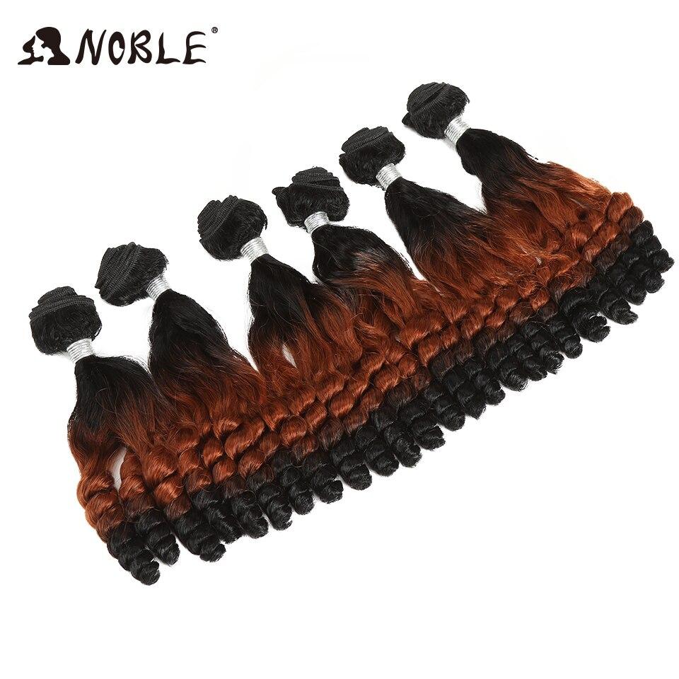 Nobre cabelo sintético afro kinky encaracolado cabelo