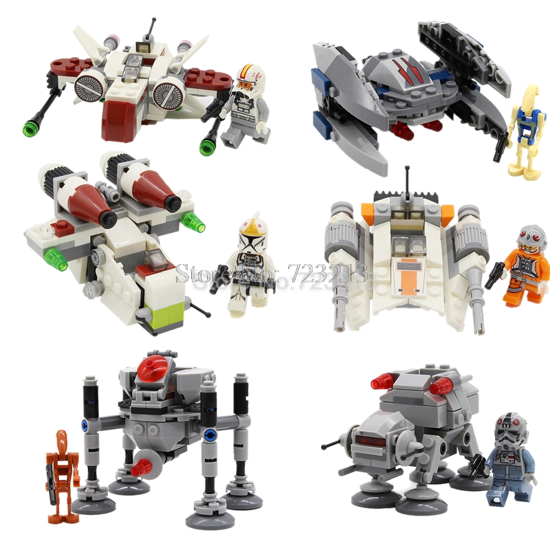 SY Star Wars Single Sale Utai Figure With Aircraft Set Clone Trooper Model Building Blocks Kits Bricks Toys SY218 SY219 single sale building blocks super heroes imperial death trooper star wars bricks action collection toys for children gift pg656