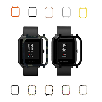 100pcs Colorful Frame PC Protect Case Shell Cover for Xiaomi Amazfit Bip BIT Lite Youth Smart Watch