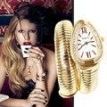 6 aniversário de luxo mulheres relógios Lady cobra aço inoxidável relógio de strass pulseira relógio de pulso feminino pulseira de cristal
