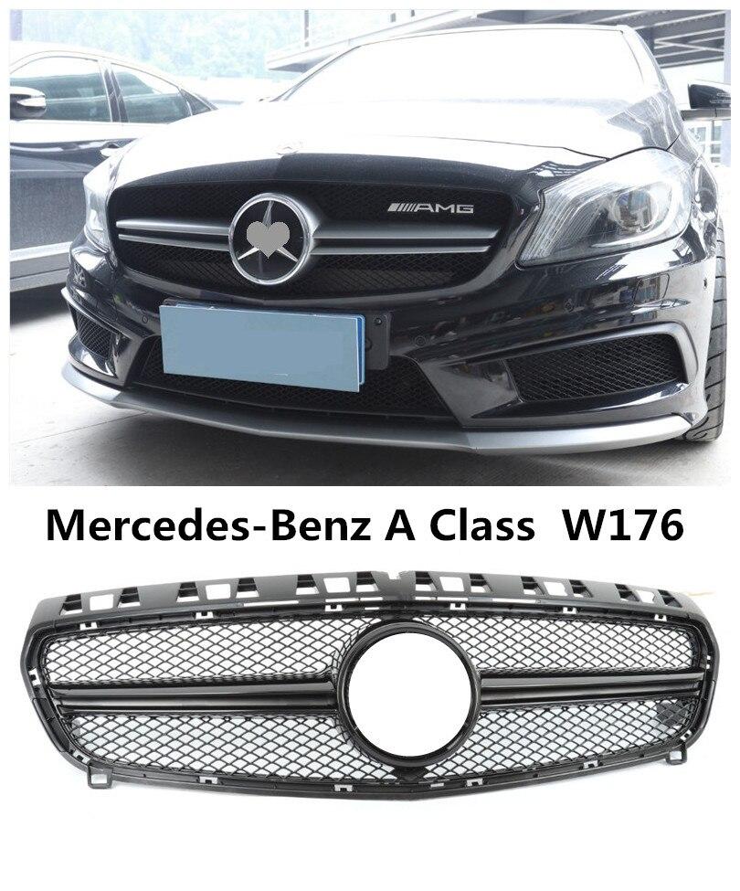 Grilles de course modèle AMG pour mercedes-benz classe A W176 A45 A180 A200 A260 2013-2019 accessoires Auto de haute qualité