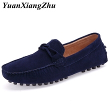 цена на Top Quality Men's Casual Shoes Man Loafers Slip on Suede Leather Moccasins 2019 Summer Soft Breathable  Driving Shoes Men Flats