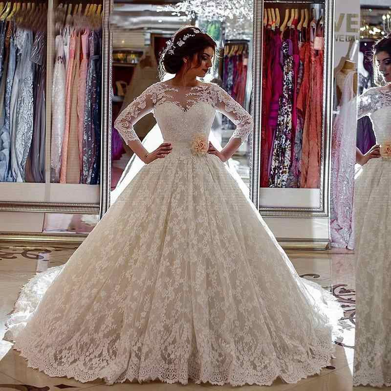 Princess Style Lace Wedding Dress Long Sleeves Bridal Gown Dresses For Bride Custom Made To Order Superbweddingdress Aliexpress,Wedding Party Wear Pakistani Designer Dresses Online Shopping