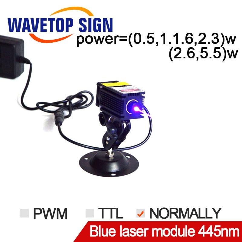 Laser engraving machine blue laser module 445nm 0.5W 1W 1.6W 2.3W 5W Built-in driver DC12V power supply diy focusable 5w laser module 5 5w laser module 7w high power for cnc cutter laser engraving machine 2w 2 5w laser module 445nm