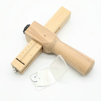 Wood Adjustable Strip And Strap Cutter Craft Tool Leather Hand Cutting Tools DIY