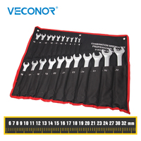 Veconor 21 PCS Combination Wrench Set Spanner Kit Open and Box End Metric 6~32mm Chrome Vanadium Home Car Repair Hand Tools
