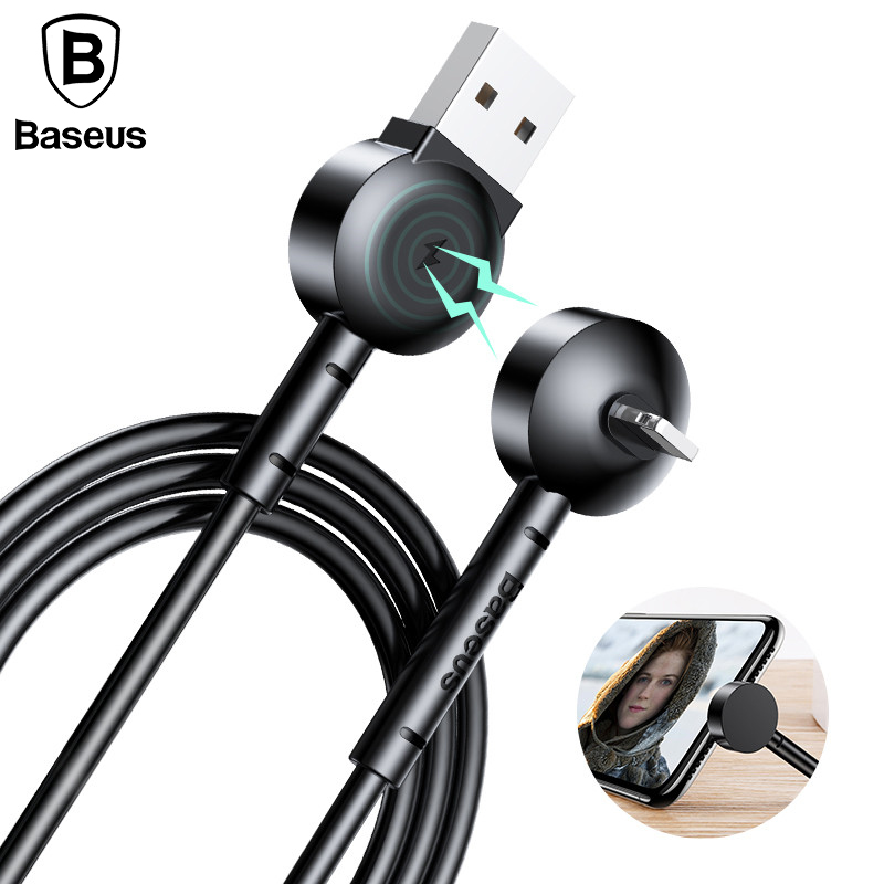 Baseus Magnetic USB Charging Cable For iPhone Fast Charger Mobile Phone Cables For iPhone X 8 7 6 6s with Phone Holder Function