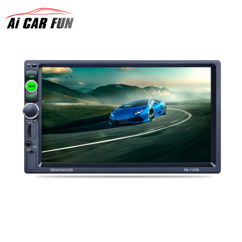 RK-7157B 7inch Bluetooth 2din Car Radio MP5 Player FM/AM/RDS Radio Tuner Media Player Remote Control &Rear View Camera Function цены онлайн