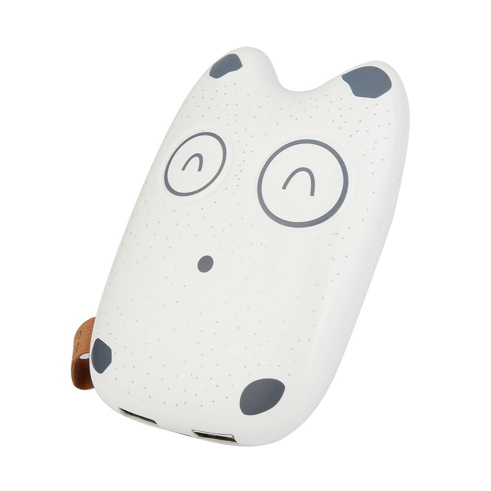 1pc Portable Ultrathin Cute Emoji 20000mAh Portable 2 USB External Battery Charger Power Bank For iPhone Cell Phone