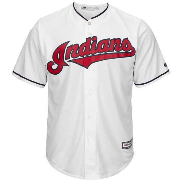 MLB Mens Cleveland Indians Edwin Encarnacion Baseball White Official Cool Base Player Jersey