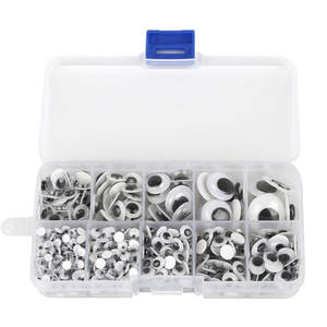 10-Grid Boxed Doll-Accessories Dolls Googly-Eyes Diy-Craft Self-Adhesive 700PCS for Toys