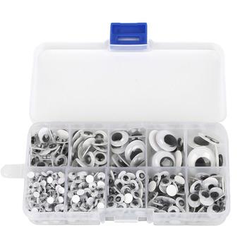 10 siatki zapakowane 700 sztuk samoprzylepne mieszane losowe około 4-15mm lalki oko do zabawek oczy do maskotek używane do lalki akcesoria DIY Craft tanie i dobre opinie Celadon CN (pochodzenie) Tak ( 50 sztuk)