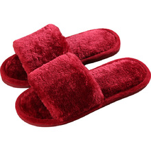 Non-slip Faux Fur Winter Women Slippers Home Female Comfort Floor Women Shoes Cotton Ladies Indoor Slippers Plush Slipper Unisex kawai girl soldier sailor moon the cat luna bowknot home cotton flannel slipper ma am indoor non slip floor slipper girl s shoes