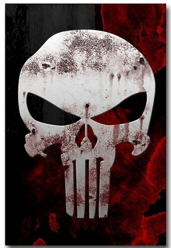 The Punisher Skull Comics Art Silk Canvas Poster Wall Decor 12x18 24x36 inch