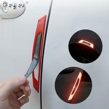 Ceyes Car Styling Reflective Strip Door Warning Reflector Carbon Fiber Universal Luminous Sticker Accessories Auto Stickers