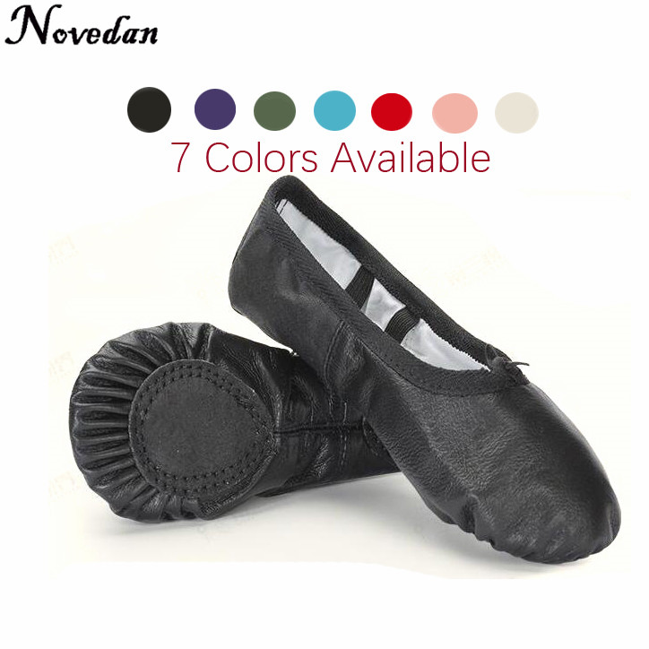 Professional Ballet Slippers Split Sole Genuine Leather Soft Ballet Dance Shoes For Girls Child And Women Dance Sneakers flexible canvas ballet dance shoes stretch mesh girls children women soft sole ballet flats dance shoes for ballet