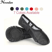 Professional Ballet Slippers Split Sole Genuine Leather Soft Ballet Dance Shoes For Girls Child And Women Dance Sneakers