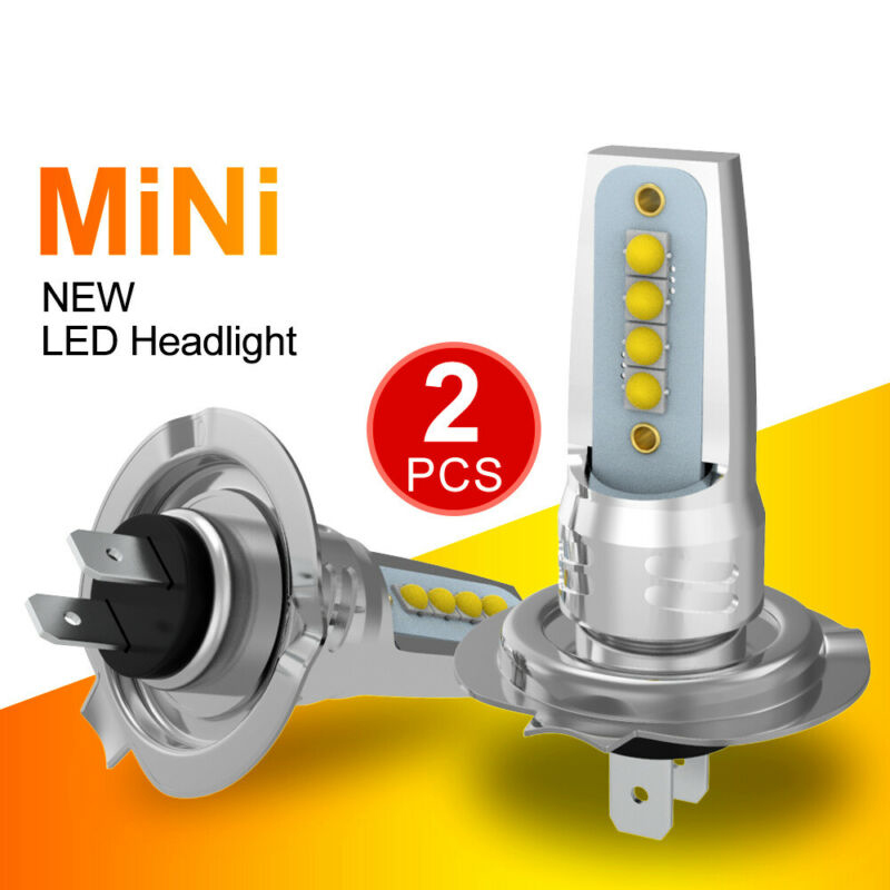 2pcs <font><b>H7</b></font> Car <font><b>LED</b></font> Headlight <font><b>Lamp</b></font> COB Bulbs 110W 20800LM Hi/Lo Beam Waterproof IP67 CSP <font><b>LED</b></font> fog light image