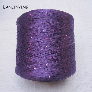 Image 2 - NEW Arrival Popular Sequins Yarn 250g Fashion Thread Hand Knitting Needles Beads Yarn Thread Knitting Yarn D697