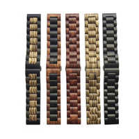 Pasek z litego drewna pasek do zegarków 22mm 20mm do Samsung Gear sport S2 S3 s4 Frontier Band amazfit bip Pebble fitbit versa 4246