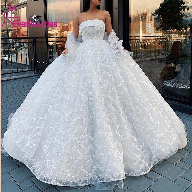 Dubai Luxury New Wedding Dresses 2019 Unique Lace Party Dresses Luxury Lace Vestido De Noiva Bridal Gown