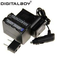 Menino digitais (4 pcs/1 conjunto) 1x np-f970 f970 npf970 np 6600 mah bateria + carregador + carregador de carro para sony np-f960 np-f950 np-f930 z1