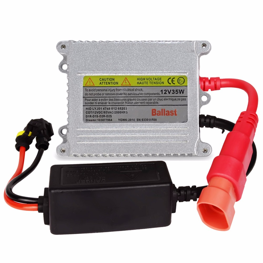 Safego Sliver color xenon HID ballast DC 12V xenon block for all car headlights HID xenon ballast 35w archos 70 xenon color