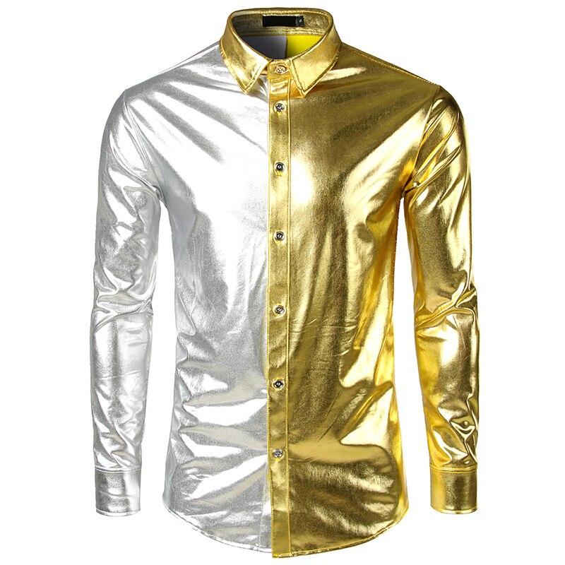 bd82d156 Buy shiny shirt men and get free shipping on AliExpress.com