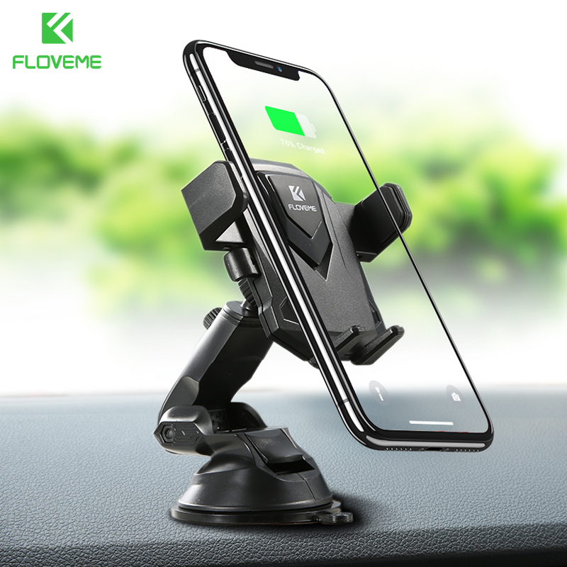 FLOVEME Windshield Stand Universal Holder For Phone In Car For iPhone X 7 Mobile Phone Car Holder Stand For Samsung Galaxy S9 S8