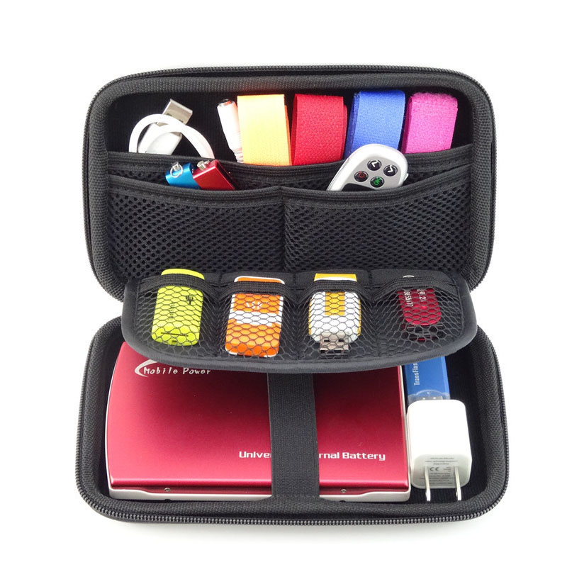 Funda disco duro externo 2.5 inch Cable Organizer Bag Carry Case HDD USB Flash Drive Memory Card Phone GH1302