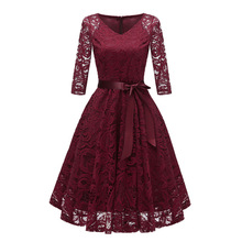 Autumn Homecoming Dresses CG00116 New Arrival Winter Lace A line V neck Cheap Short Cocktail Party Dresses with Sleeves