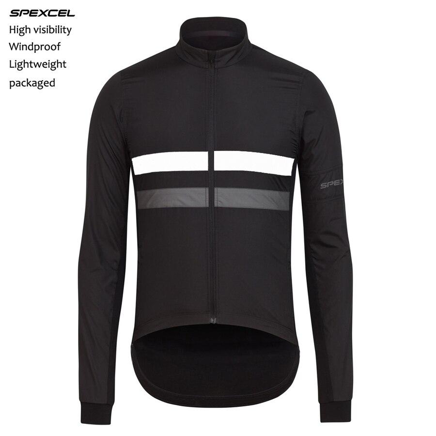 Цена за 2017 Весна SPEXCEL Легкий ветрозащитный джерси Высокая видимость светоотражающие с длинным рукавом велоспорт ветрозащитный куртка бесплатная доставка