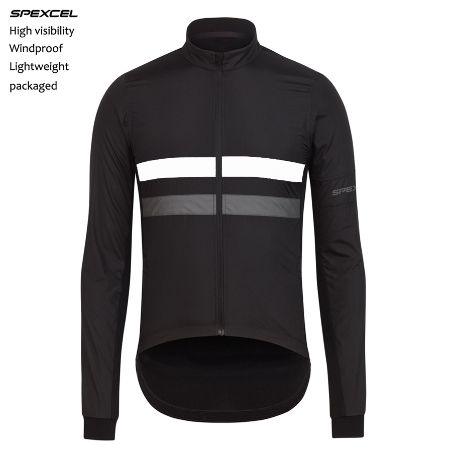 2017 Spring SPEXCEL Lightweight windproof jersey High visibility reflective long sleeve cycling windproof jacket free shipping