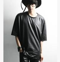 2016 summer male sleeve lm loose fifth sleeve casual t-shirt plus size available